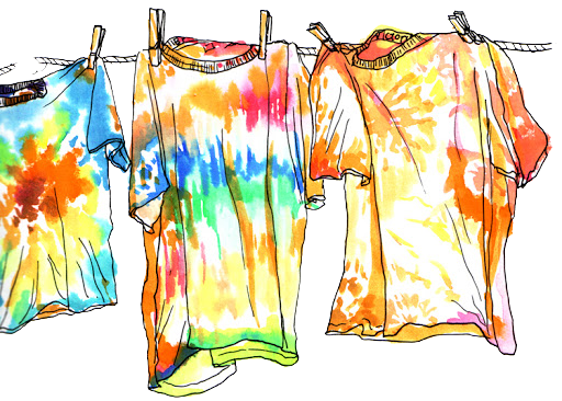 clip art colorful tie dye shirts