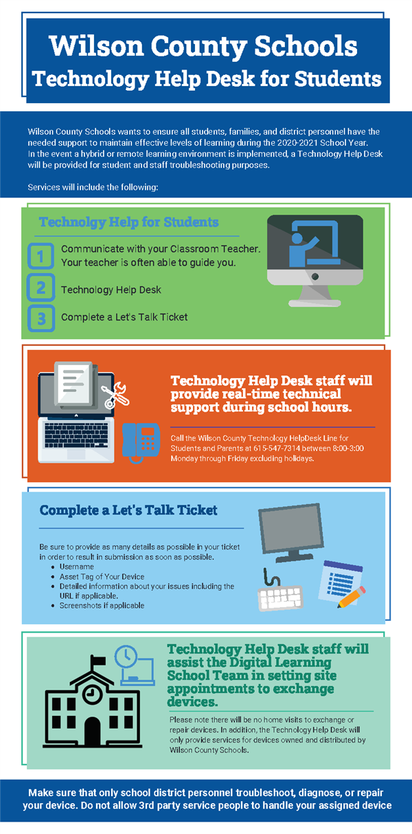 WCS Technology Help Desk for Students
