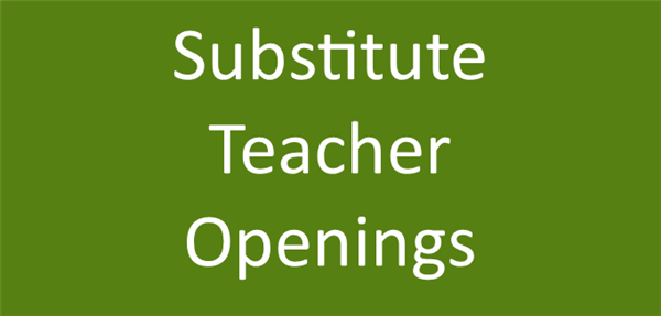 substitute teacher openings